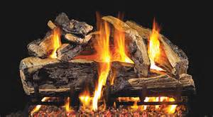 charred rugged split oak fireplace gas logs peterson