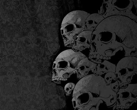 wallpaper background skull black skull wallpapers wallpaper cave