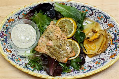 salmon dinner menu date dinner menu salmon with a mustard dill sauce