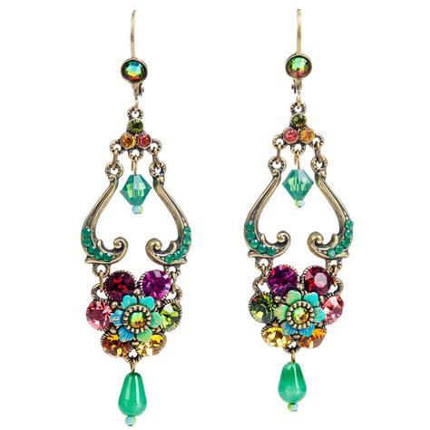 michal negrin open flower earrings multi