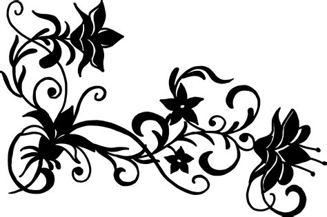 flower corner vector png transparent svg vol