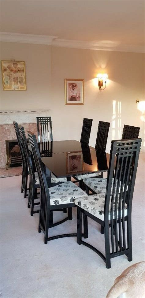 dining room suite large extending table  chairs