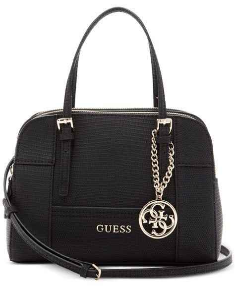 Guess Bag guess huntley small cali satchel in black lyst