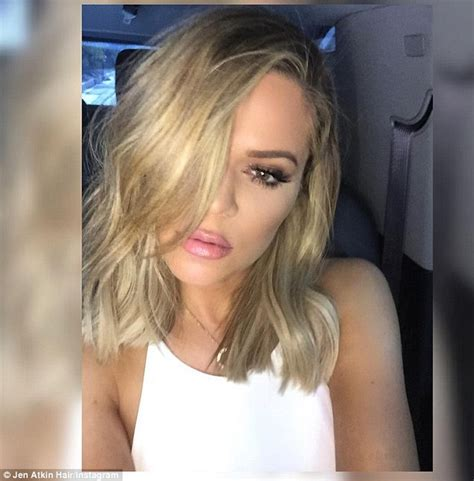 Blonde Bob Khloe Kardashian | khloe kardashian debuts sassy new long bob at kim s baby