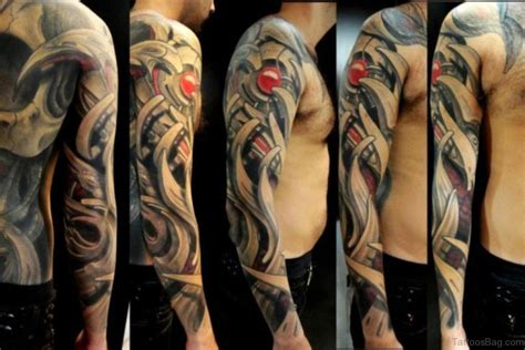 biomechanical tattoo sleeve 64 stylish sleeve tattoos