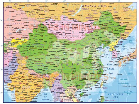 china political map digital vector china political country map level