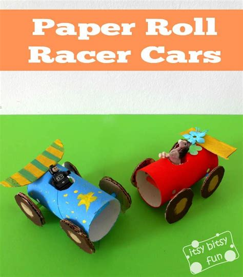 How To Make A Paper Cars - toilet paper roll cars itsy bitsy