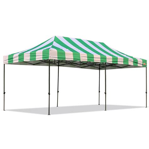 Up Canopy Abccanopy Carnival 10x20 Green And White Pop Up Canopy