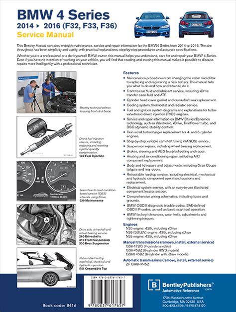 back cover bmw repair manual bmw 7 series e38 1995 2001 bentley publishers repair back cover bmw 4 series f32 f33 f36 2014 2016 repair information bentley publishers