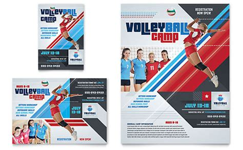 half page event flyer plus word format youthmin org volleyball c flyer ad template design
