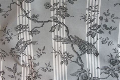 grey bird curtains french striped bird ticking toile 280cm 108 quot curtain