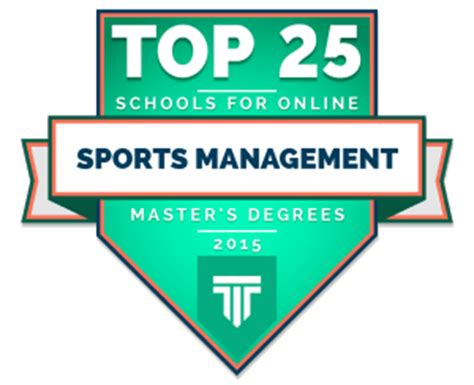best sports management schools 25 best schools for master s degrees in sports