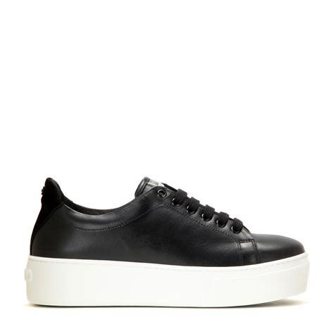 black sneakers kenzo platform leather sneakers in black lyst
