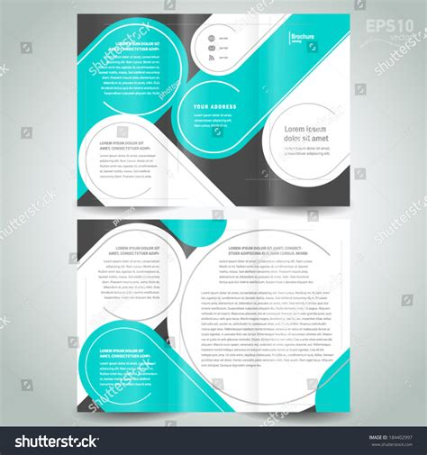 circle brochure template stripes circle line brochure design template stock