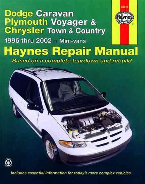 plymouth voyager dodge caravan town country 1996 2002 haynes workshop manual cad 35 75