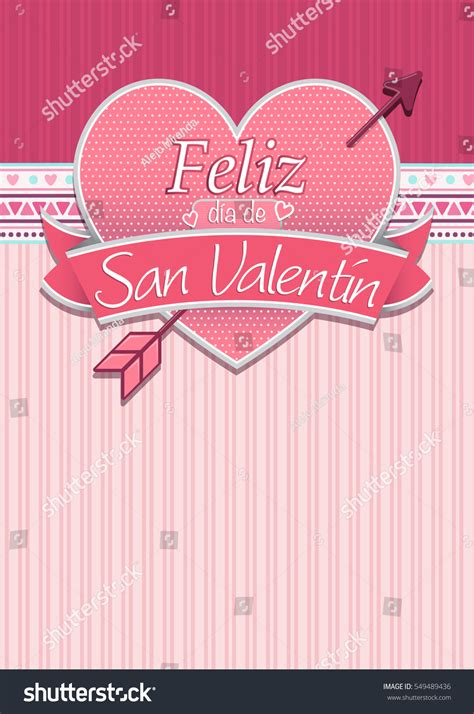 san valentin messages card cover message feliz dia de stock vector 549489436