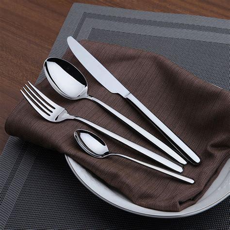 cutlery steel dinnerware set cutlery set stainless steel flatware 24