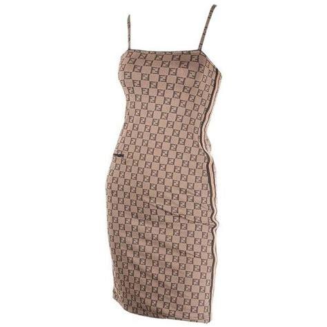 Fendi Dress preowned fendi monogram dress 285 liked on polyvore