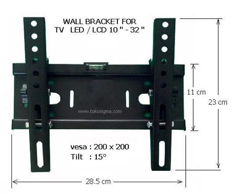 Tv Led Tempel Tembok wall bracket d 1032 for flat tv 10 32in toko sigma