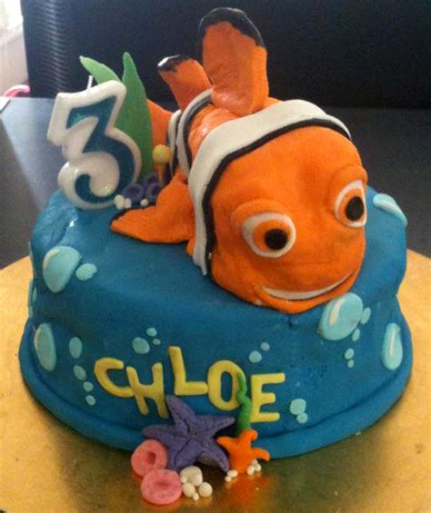 nemo cake template coloured sugar nemo