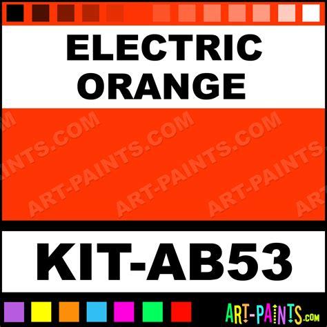 electric orange master airbrush spray paints kit ab53 electric orange paint electric orange