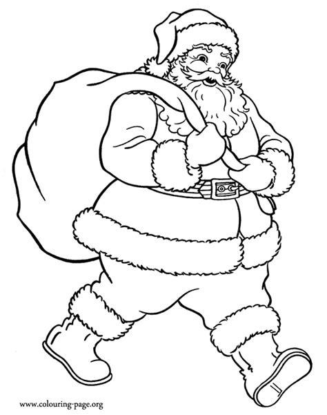 gift bag coloring page coloring pages of santa claus coloring home