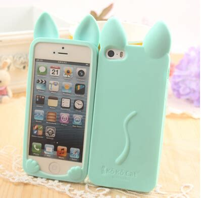Silicon Korean Style For Iphone 6 high quality korean style rabbit ears silicone mobile phone cover protective for