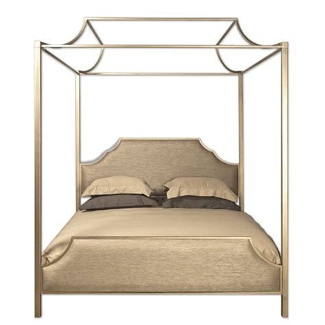 Upholstered Canopy Bed with Westwood Gold Upholstered Canopy Bed