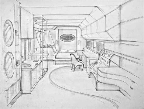cabin sketch passengers carl sprague production designer for