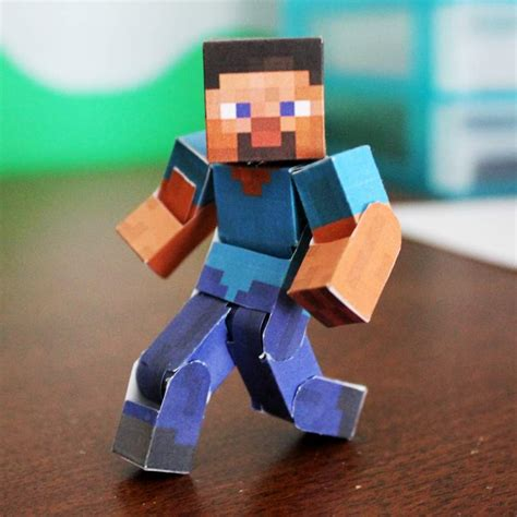 Minecraft Steve Papercraft Template - papercraft the ultimate bendable steve minecraft