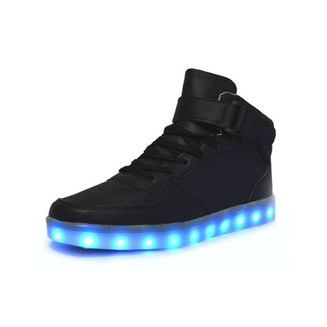 light up shoes for unisex high tops light up shoes black neonjam
