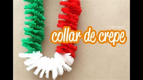 imagenes de cadenas de papel crepe collar de papel crep 233 fiestas patrias youtube