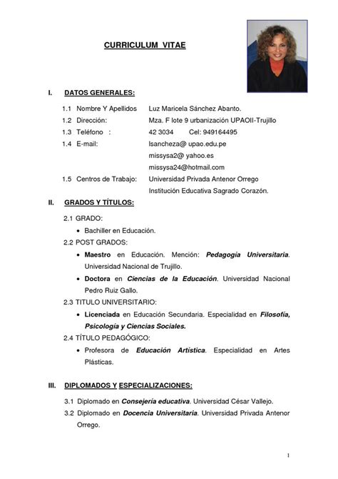 Modelo De Curriculum Vitae Simple Peru 2012 3285 Best Resume Template Images On Sle Resume Resume Templates And Cover Letter