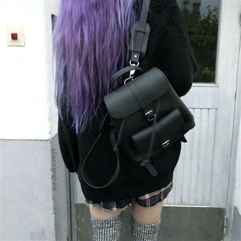 Hairstyle Book Bags by Aesthetic Bag Bookbag Fashion Grunge Hair