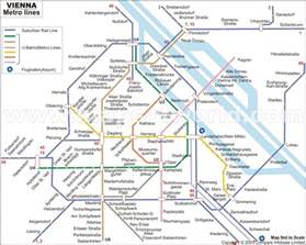 Vienna Subway Map by Vienna Metro Map Travel Holiday Map Travelquaz Com