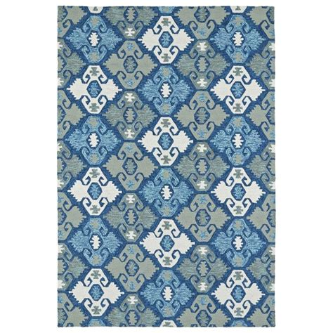 novelty area rugs shop kaleen habitat blue rectangular indoor outdoor handcrafted novelty area rug common 9 x 12