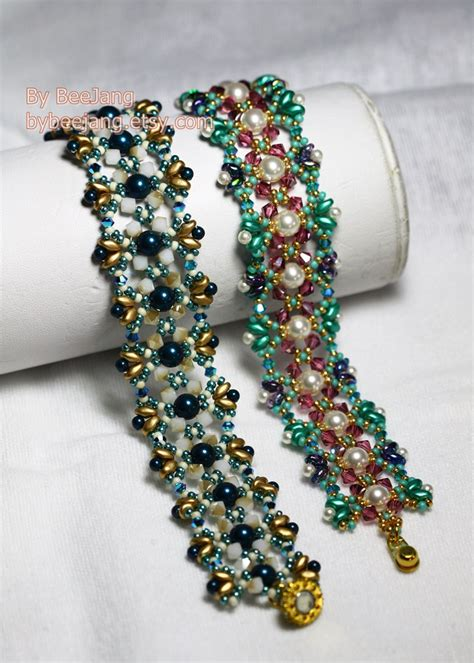 jewelry pattern download pdf tutorial odelia bracelet beading pattern beadweaving