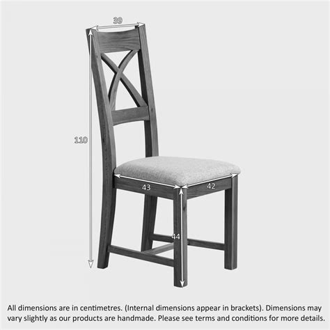 Oak And Black Dining Chairs Cross Back Dining Chair In Rustic Oak Black Leather