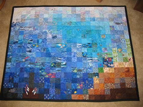 watercolor ocean pattern ocean themed watercolor quilt mom s quilt no new