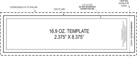 water bottle label size template great for making your