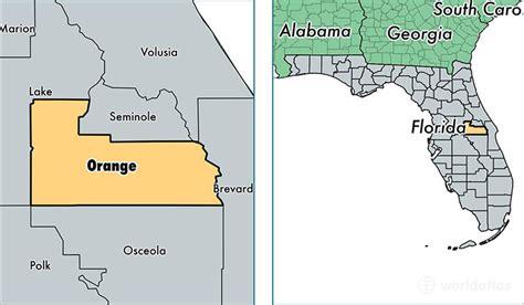 map orange county florida image gallery orange county florida