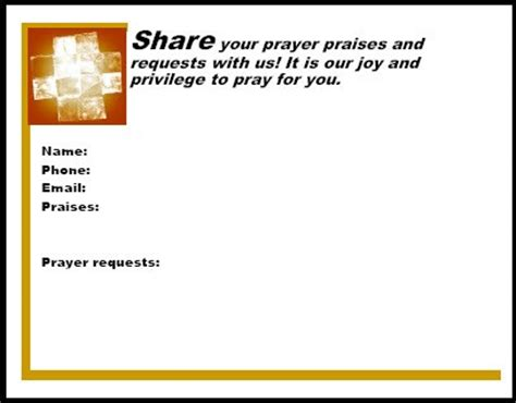 praying for you card template prayer card templates effective church communications