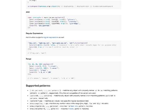 pattern matching library javascript implementing pattern matching in javascript full version