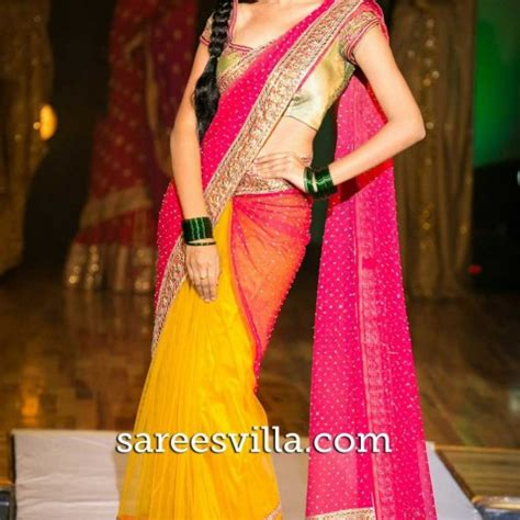Color Combinations Design half sarees half saree designs amp collection sarees villa