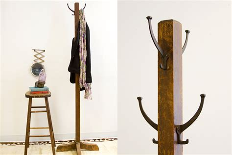 Antique Standing Coat Rack by Fashioned Antique Wooden Coat Rack By Oldnewhouse On Etsy