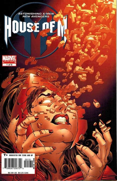 house of m house of m 1 joe quesada scarlet witch variant ultimate comics