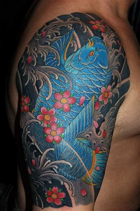 koi fish tattoo half sleeve designs japanese tattoos designs ideas and meaning tattoos for you