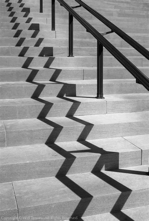Geometry Designs stair shadow photograph by will tenney