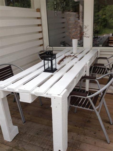 Nice Construire Table De Jardin Avec Palette #2: Table-manger-palette-terrasse.jpg