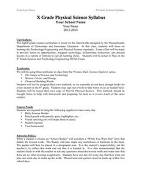 high school syllabus template 1000 ideas about middle school syllabus on